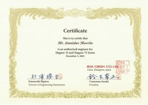 Magner KOA сертификаты Magner 35 Magner 75